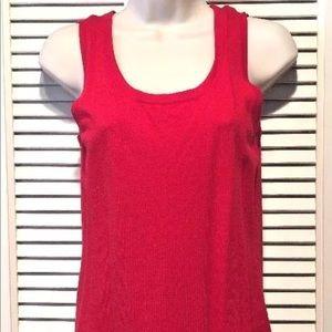 Chico's Sleeveless Dress Top - Red - Sz 0